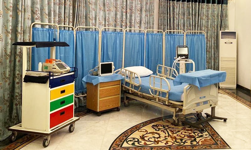 Under the supervision of Nawaz's personal physician, Dr Adnan Khan, an ICU has been set up at his residence in Jati Umra, Lahore. — Photo provided by Adnan Sheikh