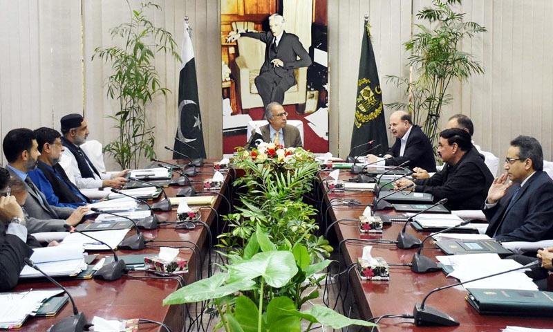 کابینہ کی اقتصادی رابطہ کمیٹی کا اجلاس مشیر خزانہ ڈاکٹر عبدالحفیظ شیخ کی سربراہی میں ہوا—تصویر: پی آئی ڈی