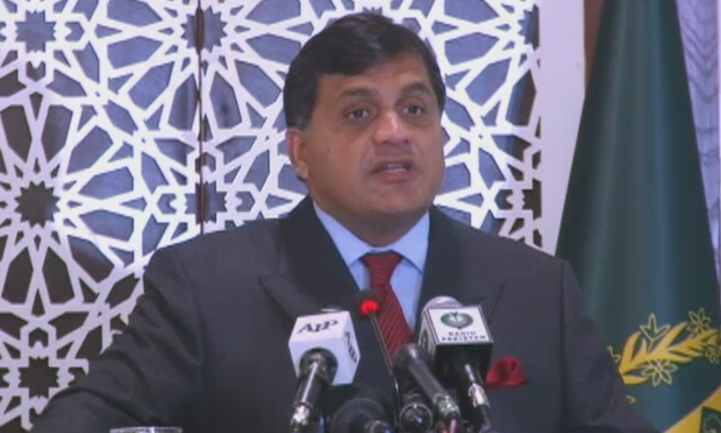 Foreign Office (FO) spokesperson Dr Mohammad Faisal addressing a weekly press briefing on Thursday. — DawnNewsTV