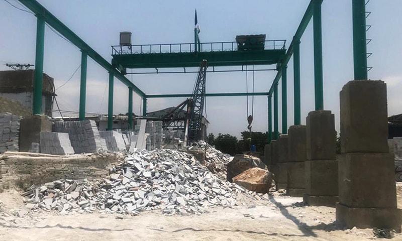 بونیر میں ماربل کا کارخانہ— فراز احمد خان
