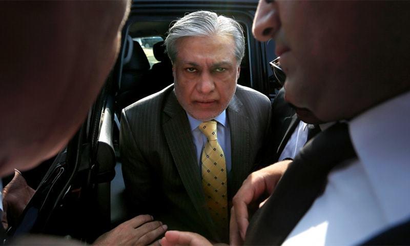 Former finance minister Ishaq Dar. — AFP/File