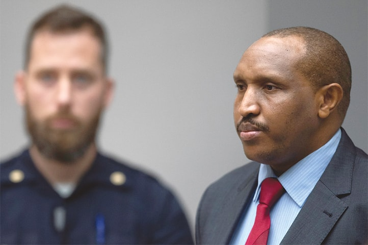 The Hague: Congolese militia commander Bosco Ntaganda at the International Criminal Court on Thursday.—Reuters