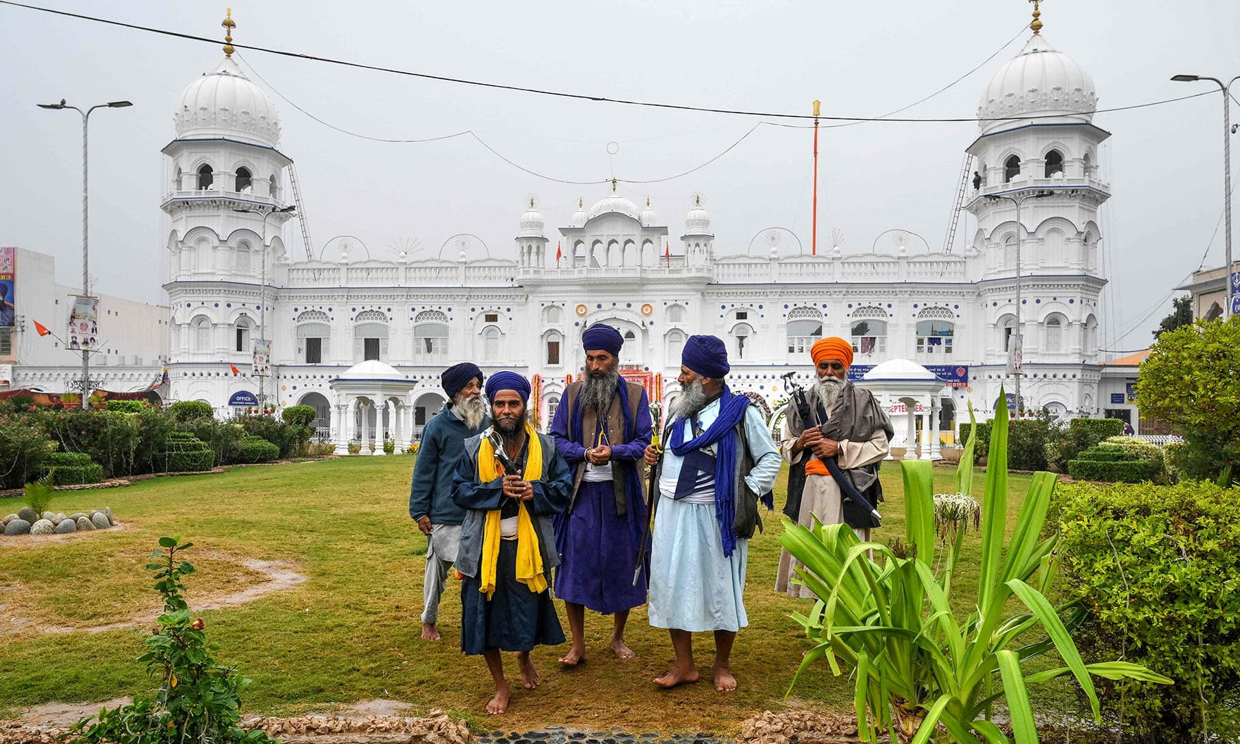 Sikh pilgrims visit the shrine in Nankana Sahib, some 75 km west of Lahore, on November 7. — AFP