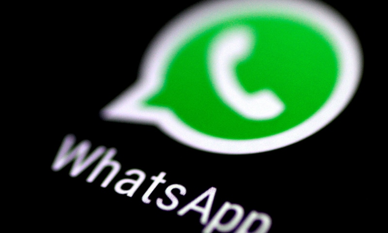 The WhatsApp messaging application is seen on a phone screen August 3, 2017. — Reuters