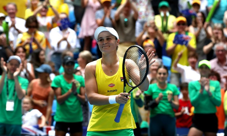 Ashleigh Barty of Australia kept her cool to embarrass a stunned Caroline Garcia on Saturday. — AFP
