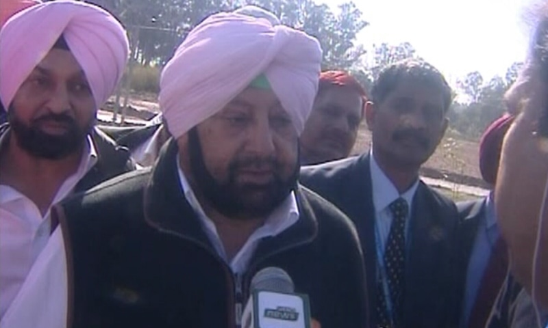 Indian Punjab CM  Amarinder Singh speaks to Pakistani media. — DawnNewsTV