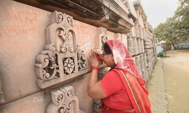 ایودھیا کو ہندوؤں کا مقدس شہر مانا جاتا ہے، جہاں رام کے پیدا ہونے کی مقدس جگہ بھی ہے—فائل فوٹو: دی ہندو