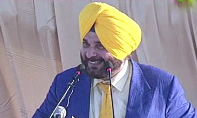 Navjot Singh Sidhu addresses the ceremony. — DawnNewsTV