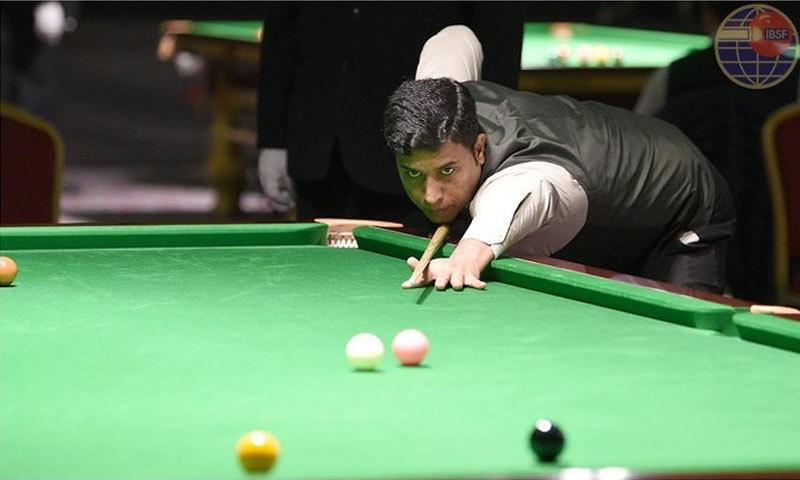محمد آصف نے فائنل میں پانچ کے مقابلےمیں  آٹھ فریمز سے کامیابی حاصل کی— فوٹو بشکریہ آئی بی ایس ایف
