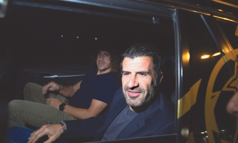 Figo, Kaka, Puyol and Anelka play exhibition match in front of sparse crowd