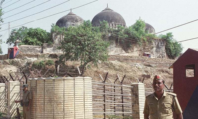 Saturday's verdict paves the way for building the temple in place of the demolished mosque. — AP/File