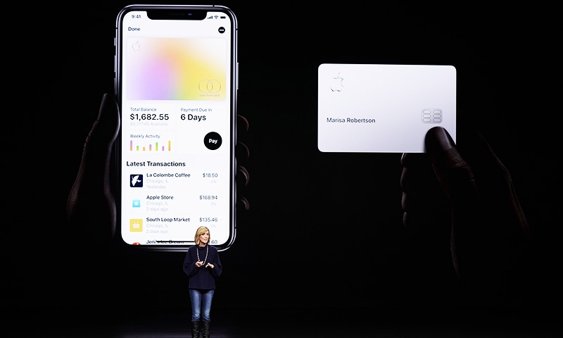 In this March 25, 2019, file photo, Jennifer Bailey, vice president of Apple Pay, speaks about the Apple Card at the Steve Jobs Theater. — AP/File