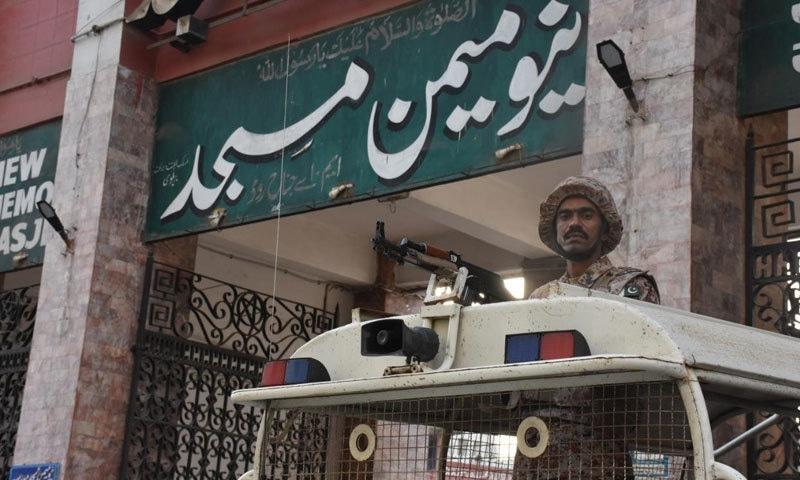 کراچی میں مرکزی جلوس میمن مسجد سے شروع ہوا—فوٹو:رینجرز