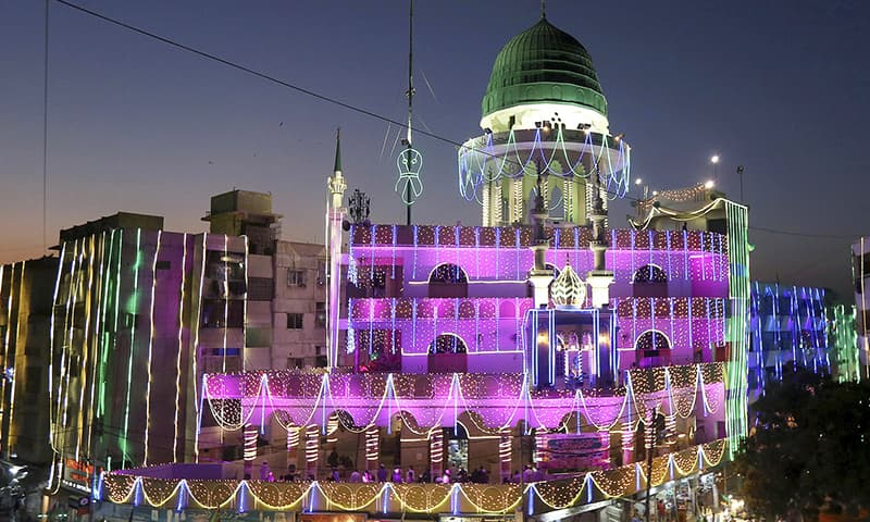In pictures: Bright lights, colourful processions abound as Eid-i-Miladun Nabi celebrated across Pakistan