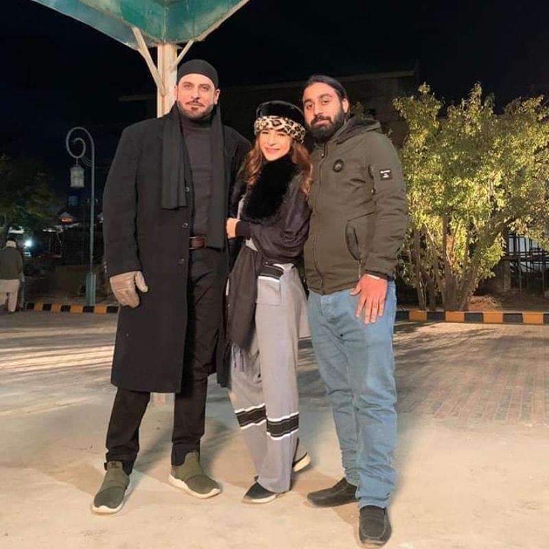 Ayesha Omer with Celebrities.