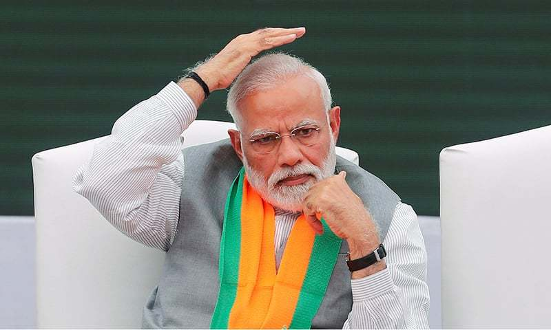 Indian Prime Minister Narendra Modi gestures after releasing India's ruling Bharatiya Janata Party (BJP)'s election manifesto for the April/May general election, in New Delhi, India on April 8, 2019. — Reuters/File