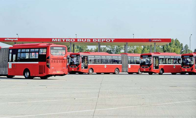 Authority would be responsible for operating metro bus between Peshawar Mor, IIA. — Mohammad Asim/File