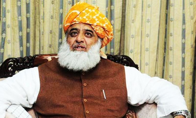 After meeting a delegation of sacked employees, Fazlur Rehman asks party senators to contact other opposition parties. — AFP/File