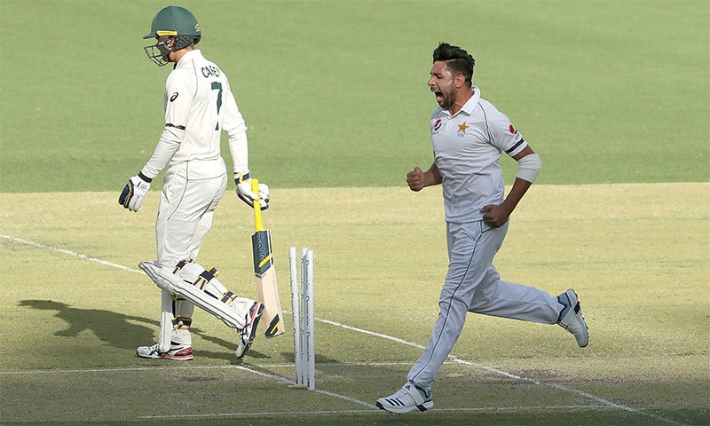 عمران خان جونیئر نے عمدہ باؤلنگ کرتے ہوئے 32 رنز کے عوض 5 وکٹیں حاصل کیں — فوٹو بشکریہ کرکٹ آسٹریلیا