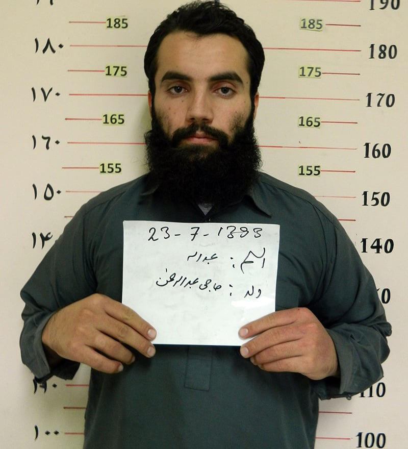 This file handout photo taken on October 15, 2014, by the Afghan NDS shows Taliban prisoner Anas Haqqani in Kabul. — AFP/File