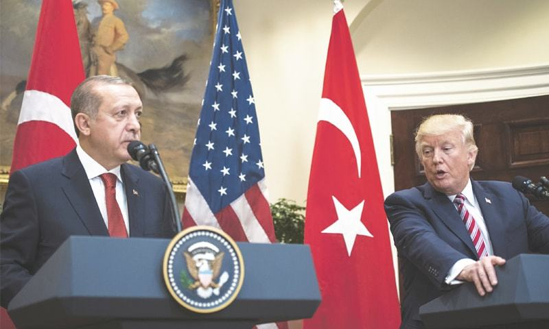 US President Donald Trump will welcome his Turkish counterpart Tayyip Erdogan at the White House on Wednesday as part of a move aimed at improving relations between the two countries. — The Washington Post/File