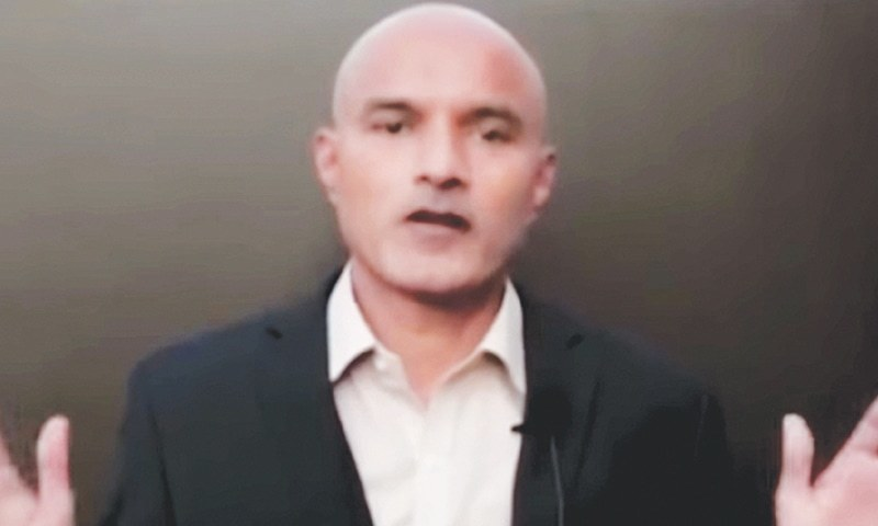 Kulbhushan Jadhav was sentenced to death in 2017 by a military court. — DawnNewsTV/File