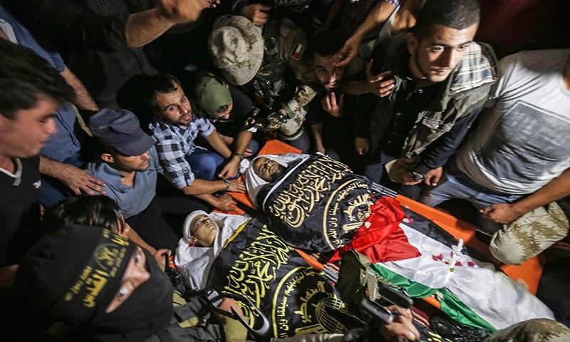 2 روز سے جاری کشیدگی میں اسرائیلی فضائی حملوں میں 34 فلسطینی جاں بحق ہوئے — فوٹو: اے ایف پی