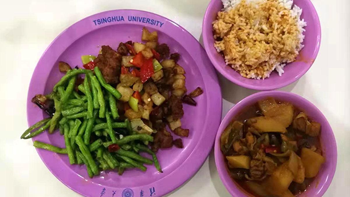 Tsinghua cafeteria food