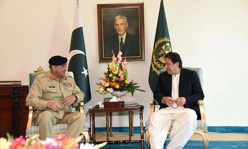 Chief of Army Staff General Qamar Javed Bajwa meets Prime Minister Imran Khan at PM House on Friday.  — PID