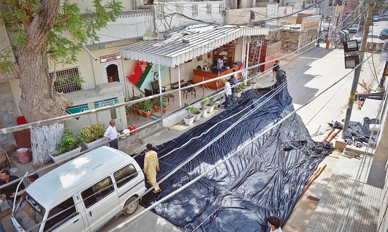 The MQM headquarters in Azizabad, Nine Zero | Fahim Siddiqi / White Star