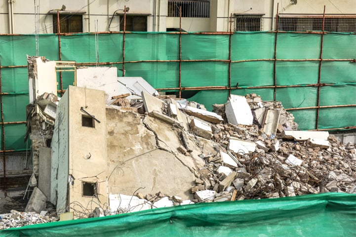 A view of the demolished Hyder Manzil | Fahim Siddiqi/White Star