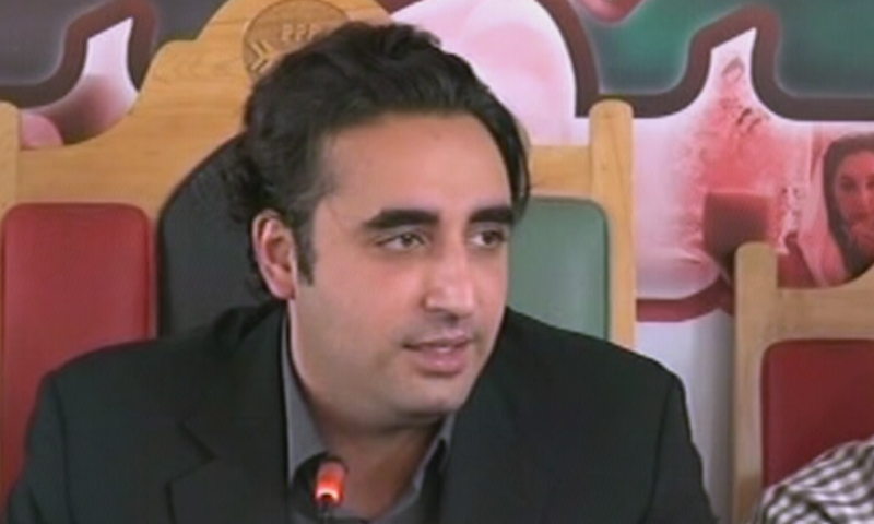 "Pakistan Peoples Party (PPP) chairman Bilawal Bhutto-Zardari has alleged that democracy is being weakened under a plan where the election process is getting replaced with ""selection"" to make people irrelevant in governance and decision-making affecting the very fate and future of the country. — DawnNewsTV/File"