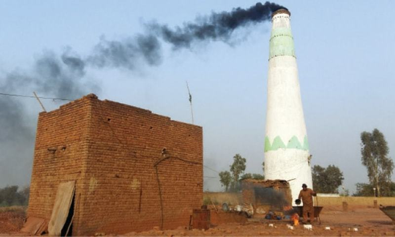 "The Punjab government on Saturday retracted its earlier announcement of closing down old-fashioned brick kilns in central and north eastern Punjab to control smog currently tormenting people, saying it did not want to ""increase the problems of people or render anyone jobless."" — Dawn/File"