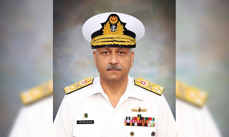 وائس ایڈمرل محمد فیاض جیلانی — فوٹو بشکریہ پاک بحریہ