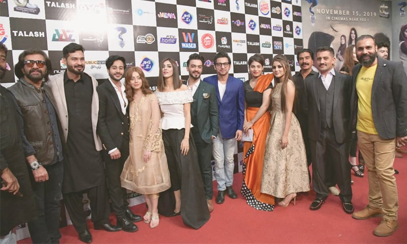 THE cast of Talash at the red carpet and premiere of the flick held at a leading multiplex here on Sunday.