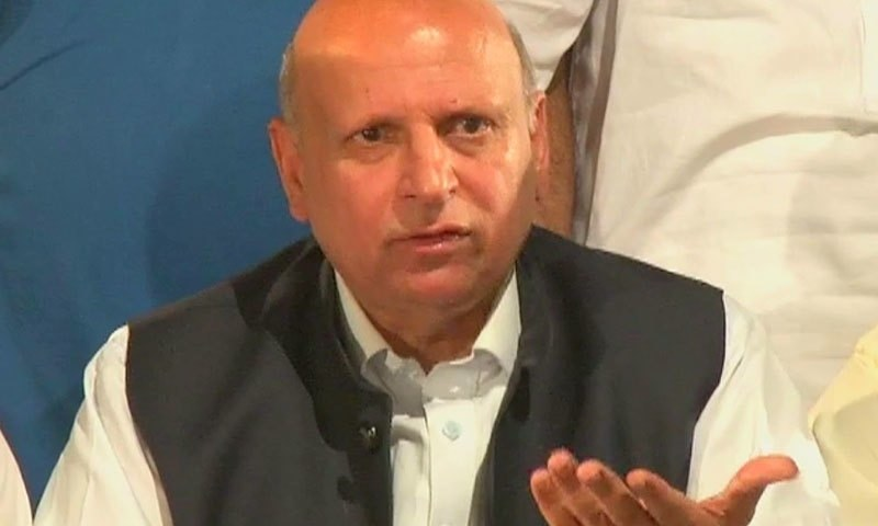 Punjab Governor Chaudhry Sarwar says Centre permitted Nawaz Sharif's medical treatment abroad solely on humanitarian grounds. — DawnNewsTV/File