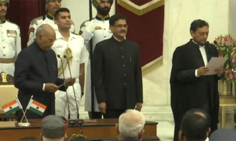 Justice Sharad Arvind Bobde was sworn in as India's 47th Chief Justice by President Ram Nath Kovind on Monday, November 18. — Photo courtesy ANI via India Today