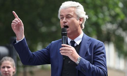 Geert Wilders is known for his peroxide bouffant hairdo and firebrand anti-immigration and anti-Islamist statements. — AFP/File