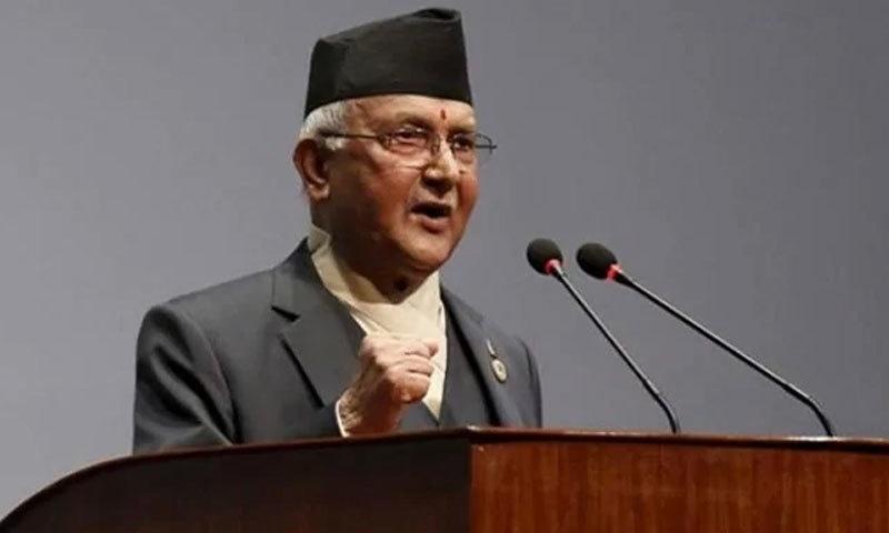 نیپالی وزیراعظم نے ریلی سے خطاب کیا—فوٹو:بشکریہ این ڈی ٹی وی