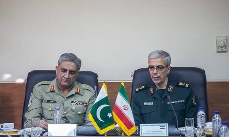 Chief of the Army Staff Gen Qamar Javed Bajwa on Monday visited Tehran for security talks with Iranian military leaders. — Photo courtesy DG ISPR Twitter