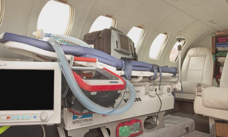 An ICU and operation theatre had been set up in the air ambulance that arrived from Doha. — DawnNewsTV