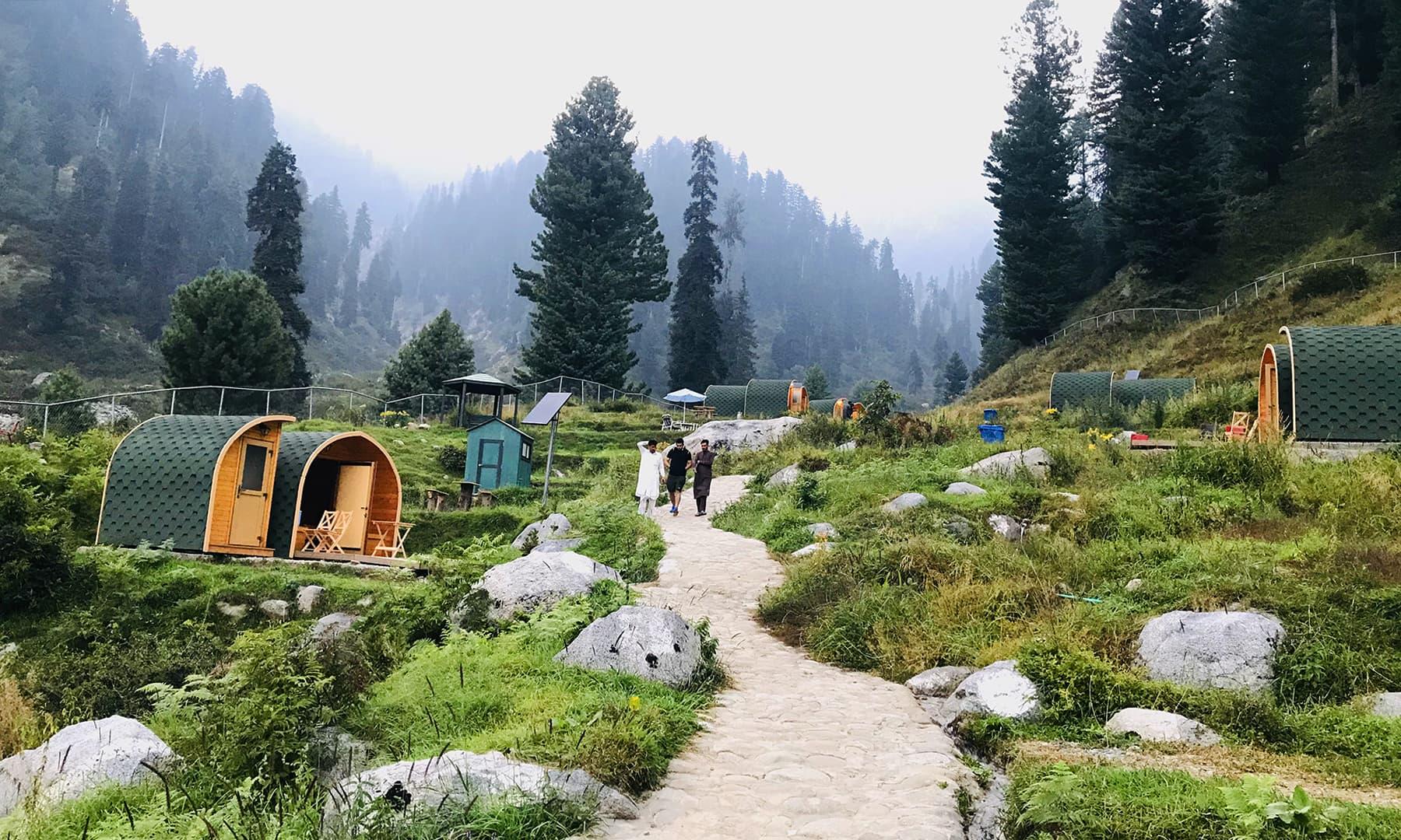 مٹہ سوات سے 20 کلومیٹر کے فاصلے پر واقع جنت نظیر سیاحتی مقام گبین جبہ— عظمت اکبر