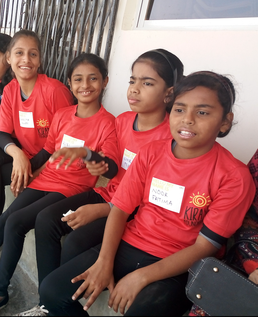 Kiran Foundation gymnasts. — *Photo by author*