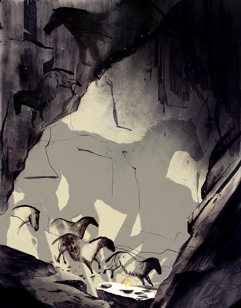 ممکن ہے کہ زمانہ قدیم میں انسان نے غاروں میں کندہ نقوش اور روشنی کی مدد سے داستان گوئی کا طریقہ ڈھونڈ لیا ہو
