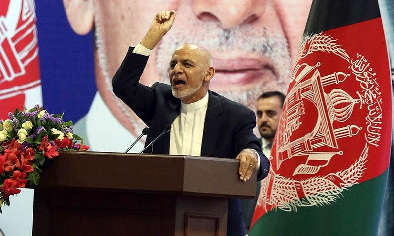 افغان صدر نے شدت پسند تنظیم داعش کی تباہی اور اپنی فتح کا اعلان کیا— فوٹو: اے پی