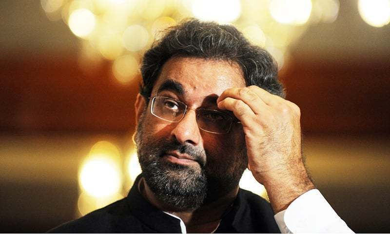 Shahid Khaqan Abbasi has been accused of awarding a 15-year contract for the LNG terminal that was against rules. — AFP/File
