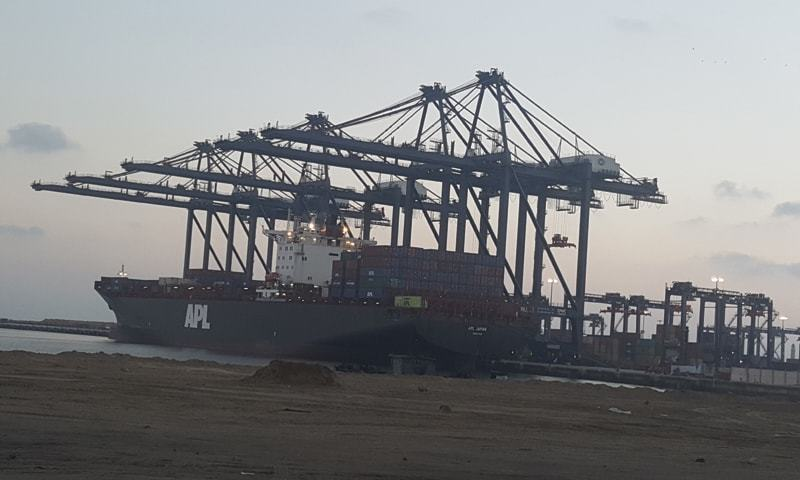 SAPT operates biggest deep sea port of the country since 2016, with two berths having length of 800 metres. — Dawn/File