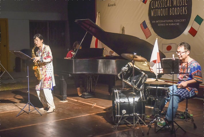 Trio Zipang performs at the Alliance Francaise.—White Star