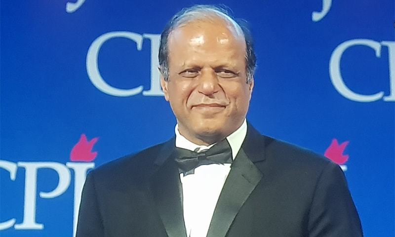 In July, CPJ had announced Zaffar Abbas as the recipient of the award. — Photo courtesy Signal Twitter account