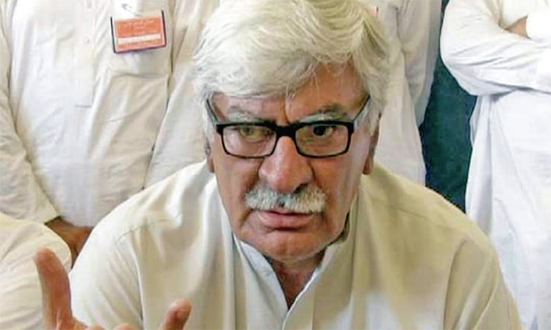 ANP leader Asfandyar Wali Khan said that so far corruption of a single penny was not proven against opposition leaders arrested in different cases by NAB. — INP/File